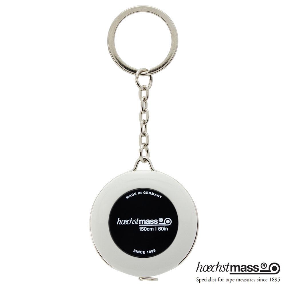 德國 Hoechstmass|鑰匙圈捲尺 1.5m -(外白內黑)