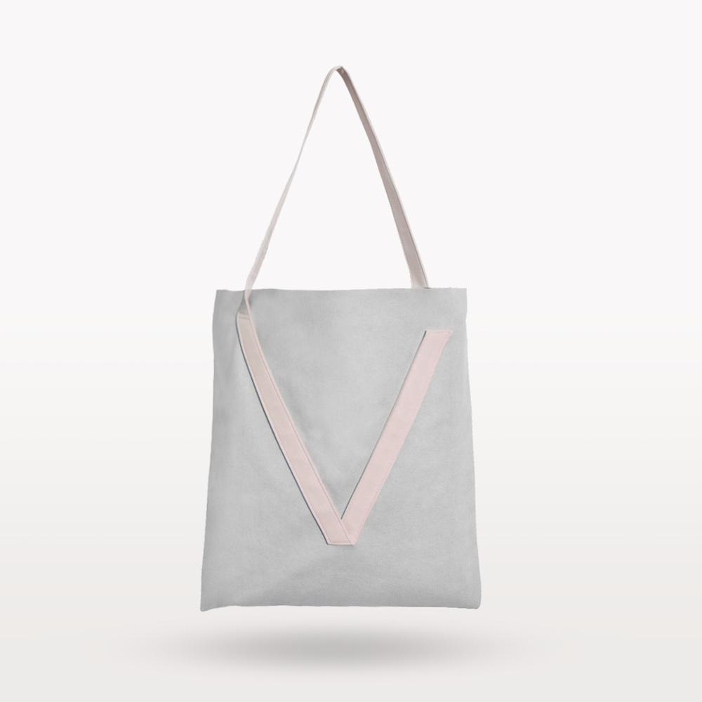 VOOME|V Bag 單肩包(灰粉色)