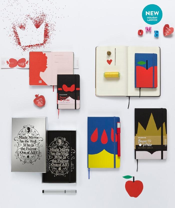 白雪公主限定版筆記本-口袋型橫線蘋果