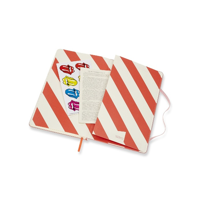 滾石樂團限定筆記本-L型橫線粉紅