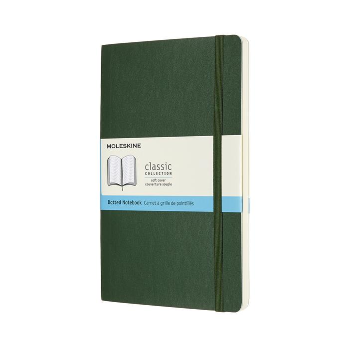 (複製)MOLESKINE|經典軟皮筆記本- L型方格綠