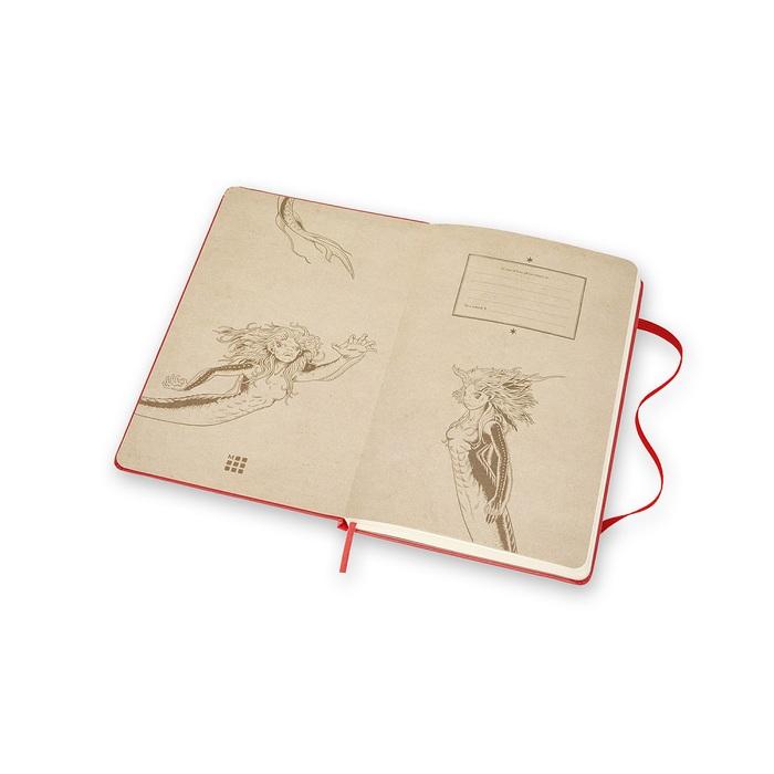 MOLESKINE|哈利波特筆記本-L橫線紅