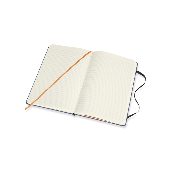 MOLESKINE|丹寧筆記本-L型橫線淺藍