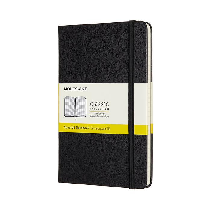 MOLESKINE|經典硬殼筆記本-M型方格黑