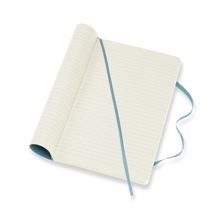 MOLESKINE 經典珊瑚藍軟皮筆記-L橫線