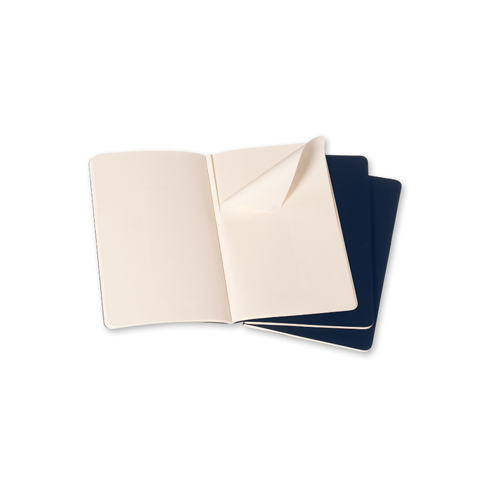 MOLESKINE|CAHIER輕便筆記本 (L型)-空白靛藍