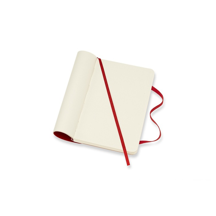 MOLESKINE 經典紅色軟皮筆記本-口袋空白