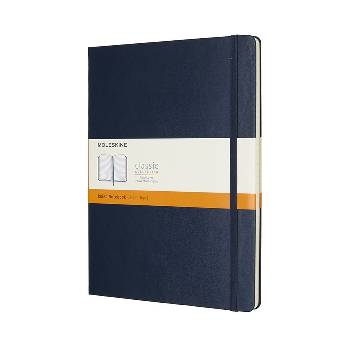 MOLESKINE|經典寶藍色硬殼筆記本-XL橫線