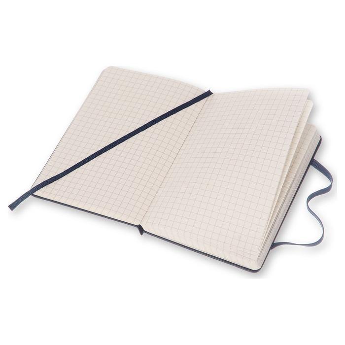 MOLESKINE|經典寶藍色硬殼筆記本-口袋方格