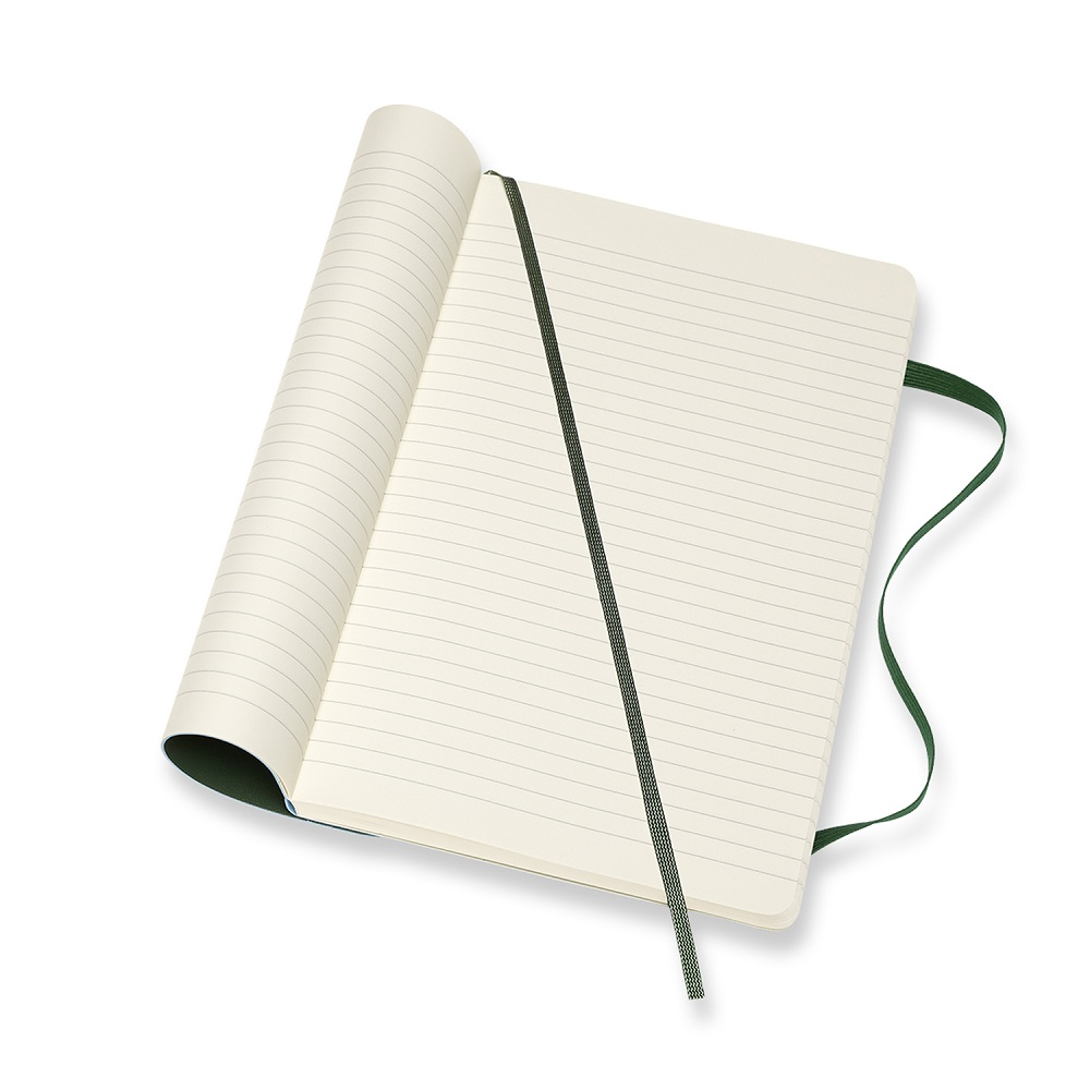 MOLESKINE 經典軟皮筆記本- L型橫線綠
