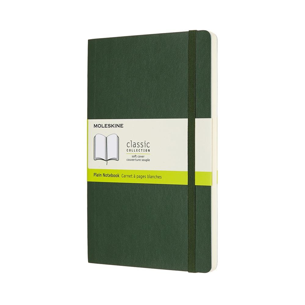 MOLESKINE|經典軟皮筆記本- L型空白綠