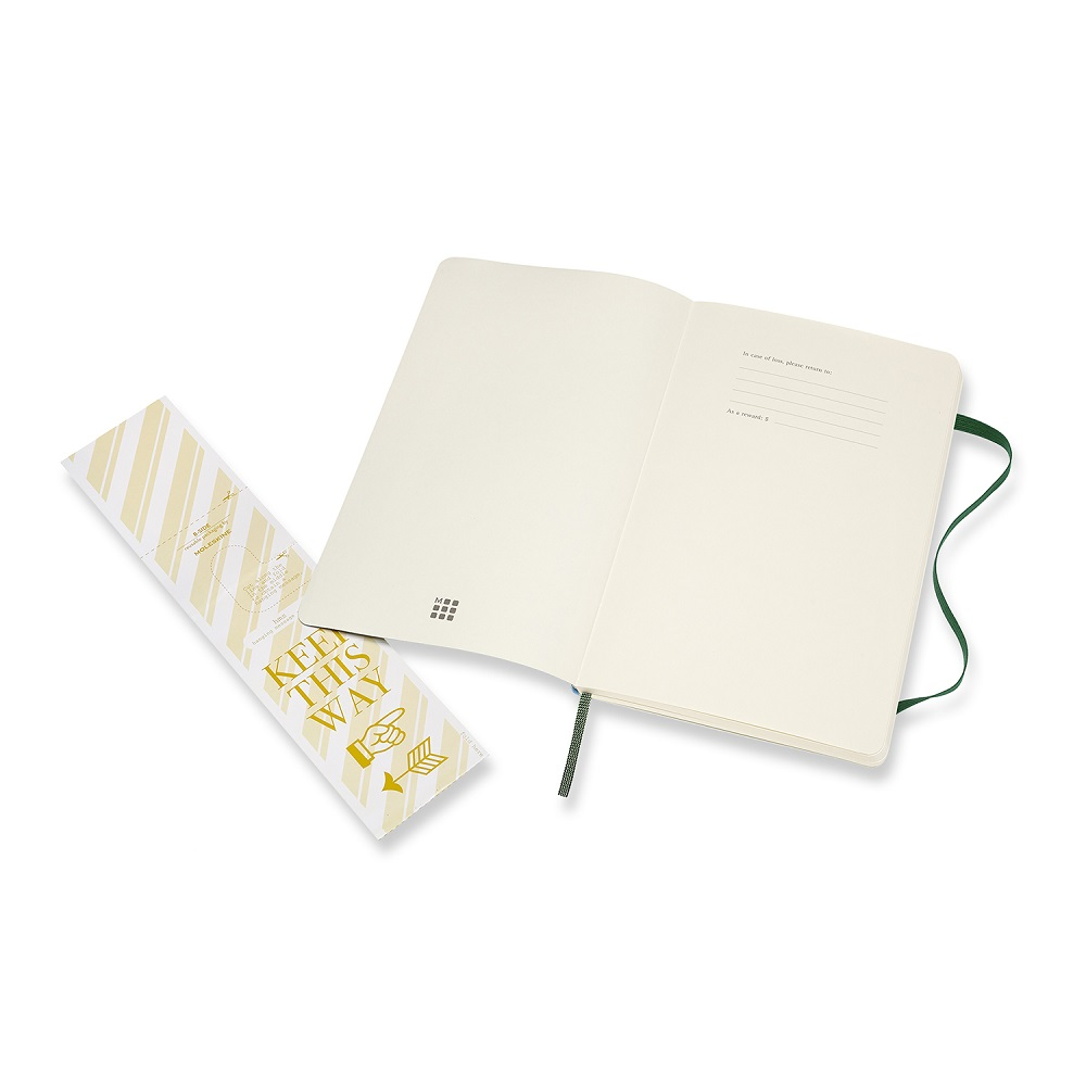 MOLESKINE|經典軟皮筆記本- L型方格綠