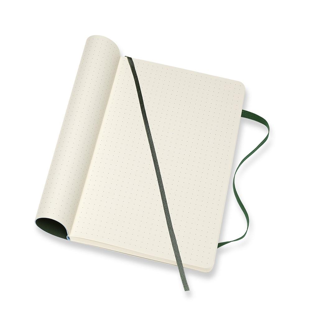 MOLESKINE 經典軟皮筆記本- L型點線綠
