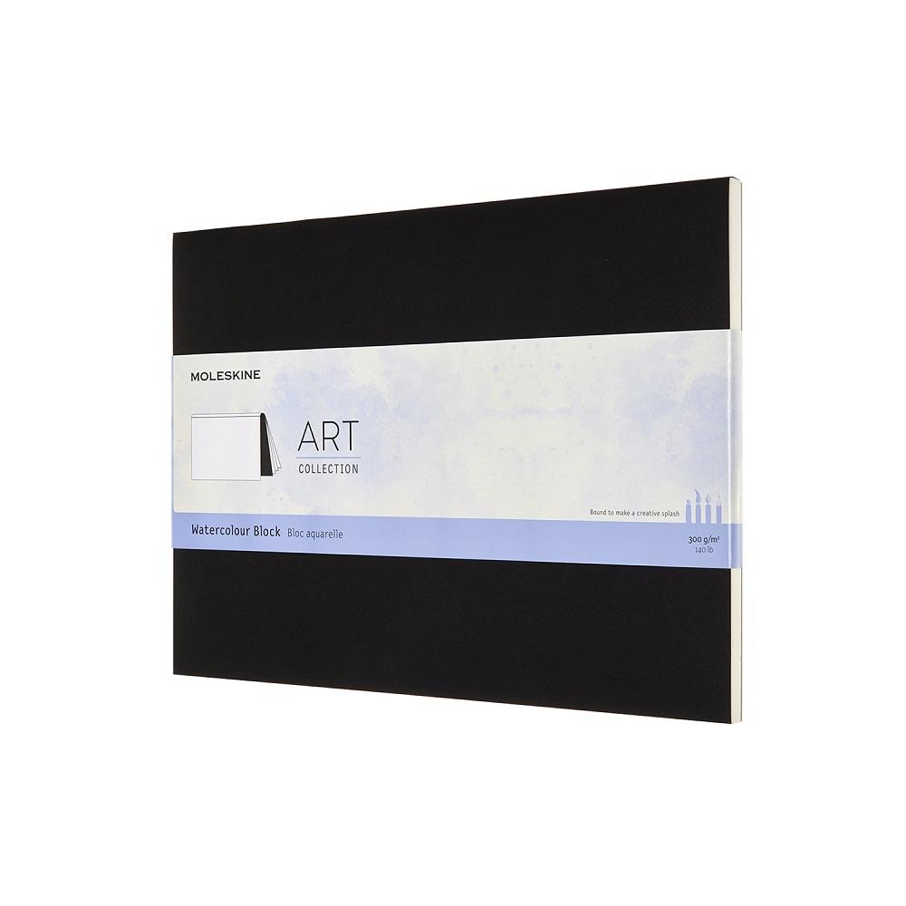 MOLESKINE 藝術系列水彩紙磚-23X31型黑