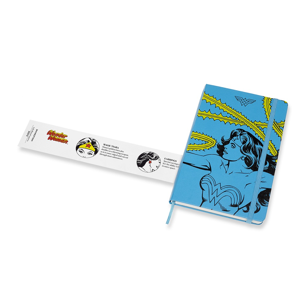 MOLESKINE 神力女超人筆記本-L橫線藍