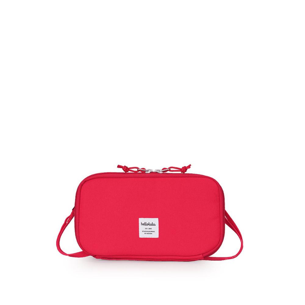 Hellolulu|SHANNON收納側背包-番茄紅