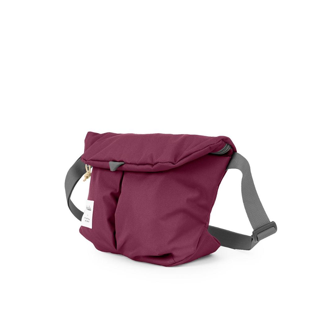 Hellolulu|MiniKASEN輕旅戶外側背包-酒紅