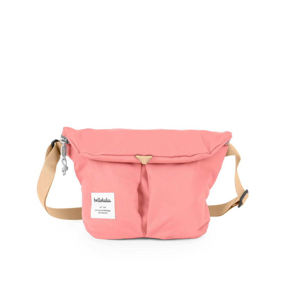 Hellolulu|MiniKASEN輕旅戶外側背包-淺粉紅