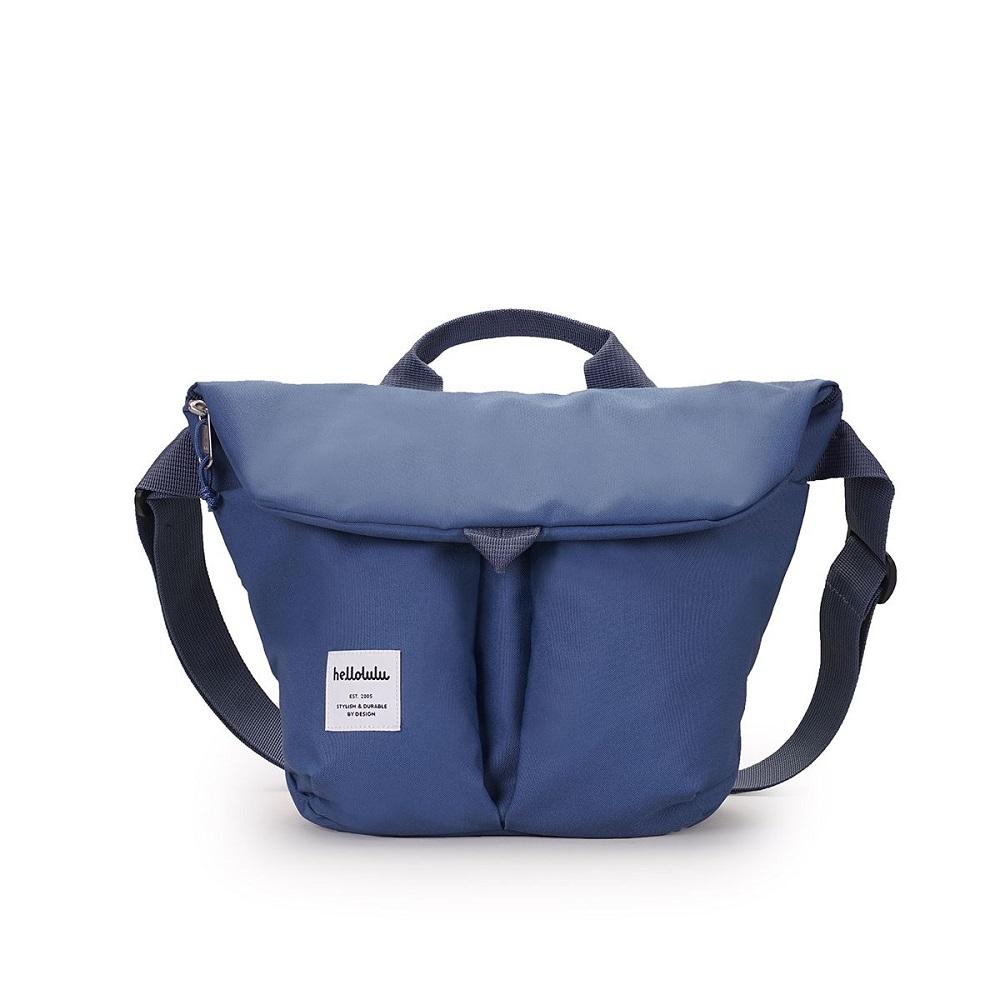 Hellolulu|KASEN輕旅戶外側背包-煙燻藍