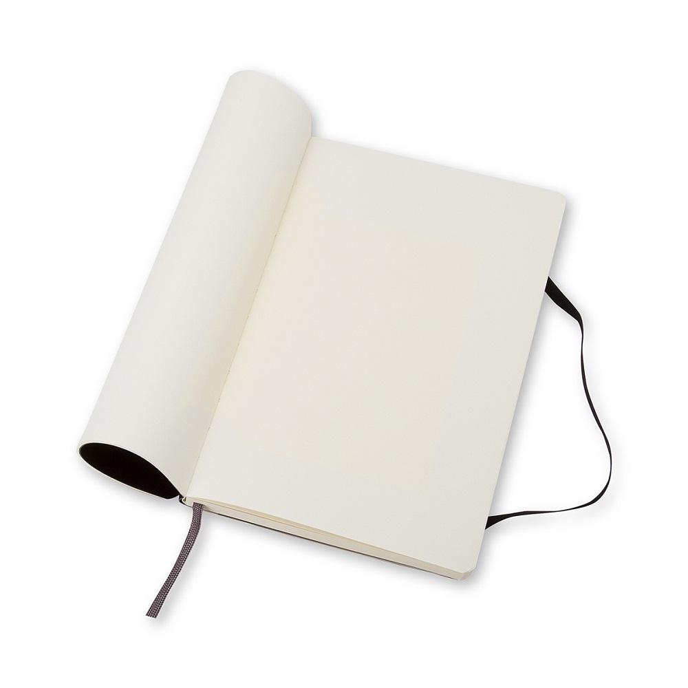 MOLESKINE 經典黑色軟皮筆記本-L方格