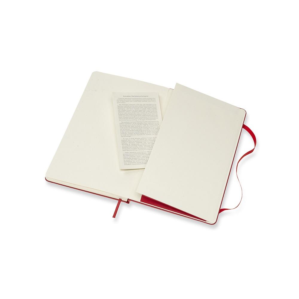 MOLESKINE 經典紅硬殼筆記-L點線