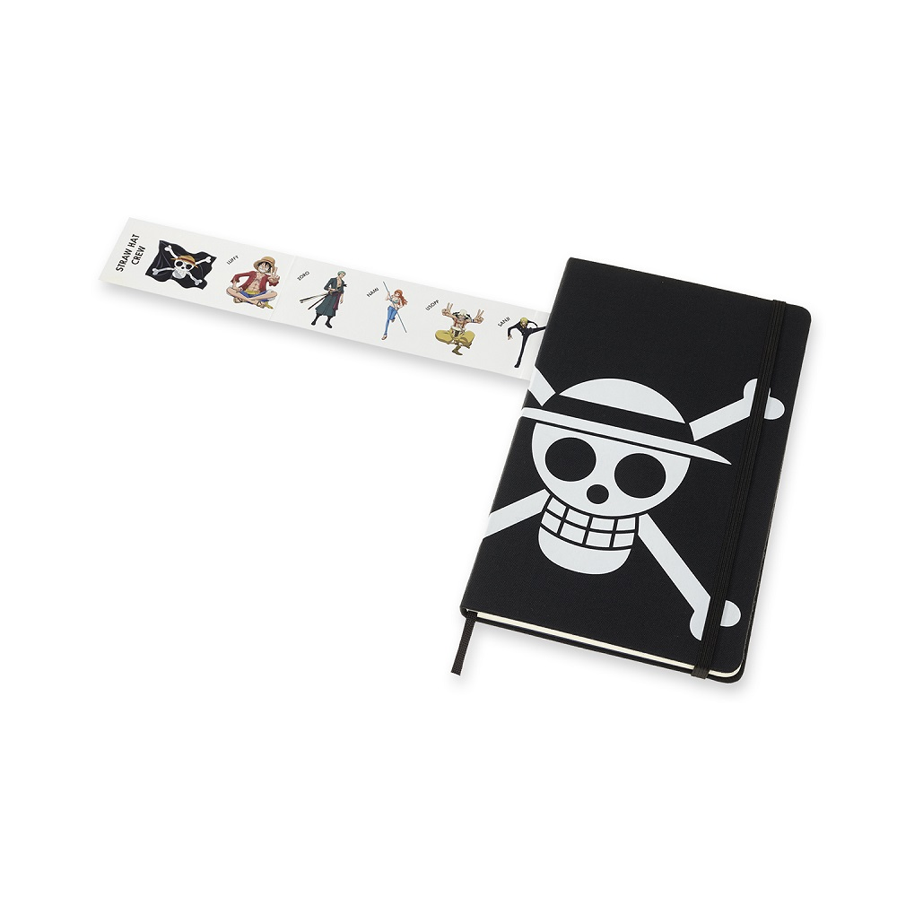 MOLESKINE|One Piece航海王限量筆記本(L型) -海賊旗