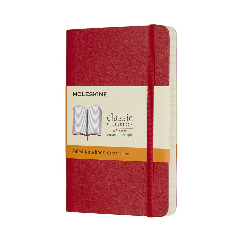 MOLESKINE|經典紅色軟皮筆記本-口袋橫線