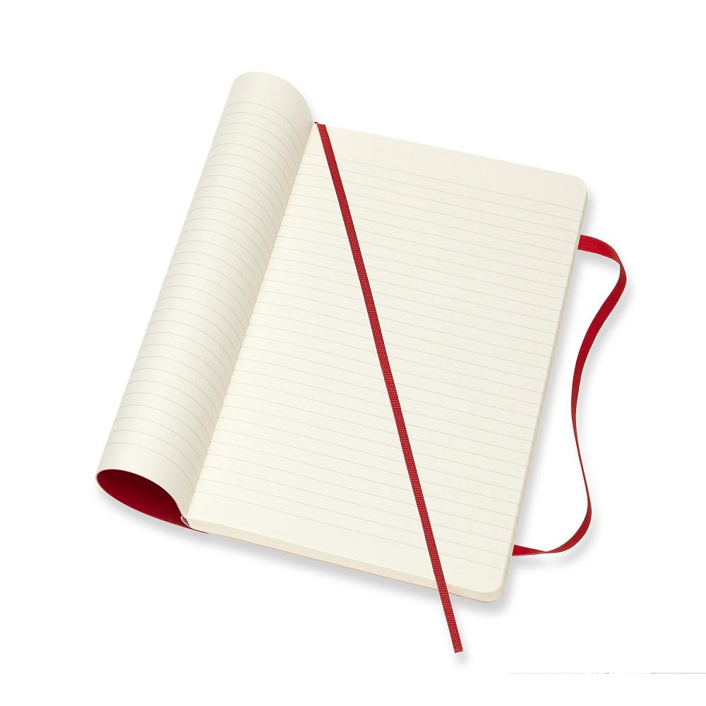MOLESKINE 經典紅色軟皮筆記本-L橫線
