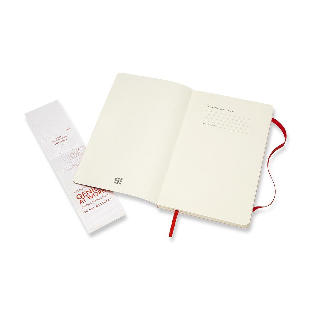 MOLESKINE|經典紅色軟皮筆記本-L方格