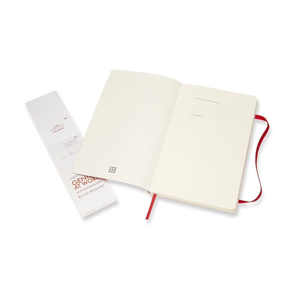 MOLESKINE 經典紅色軟皮筆記本-L點線
