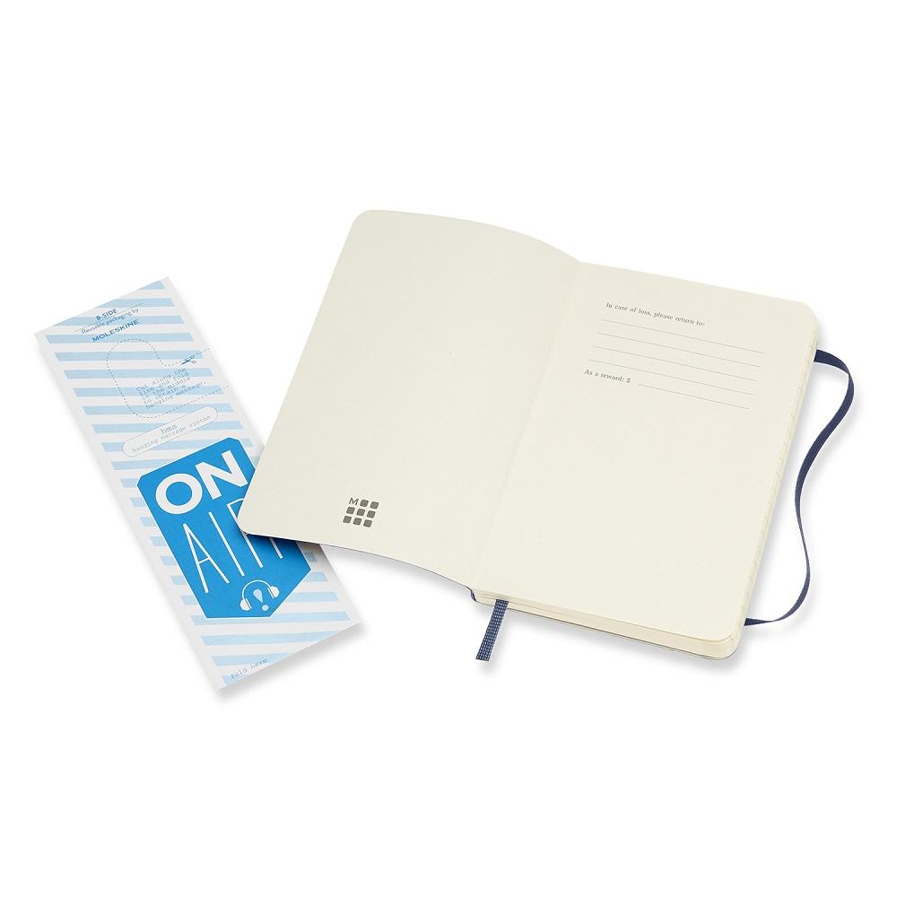 MOLESKINE|經典寶藍色軟皮筆記本-口袋橫線