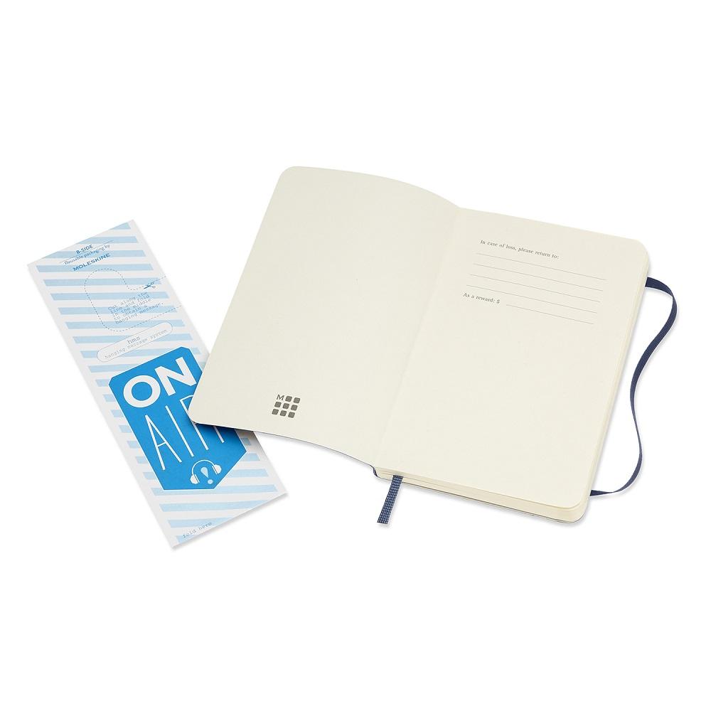 MOLESKINE|經典寶藍色軟皮筆記本-口袋空白