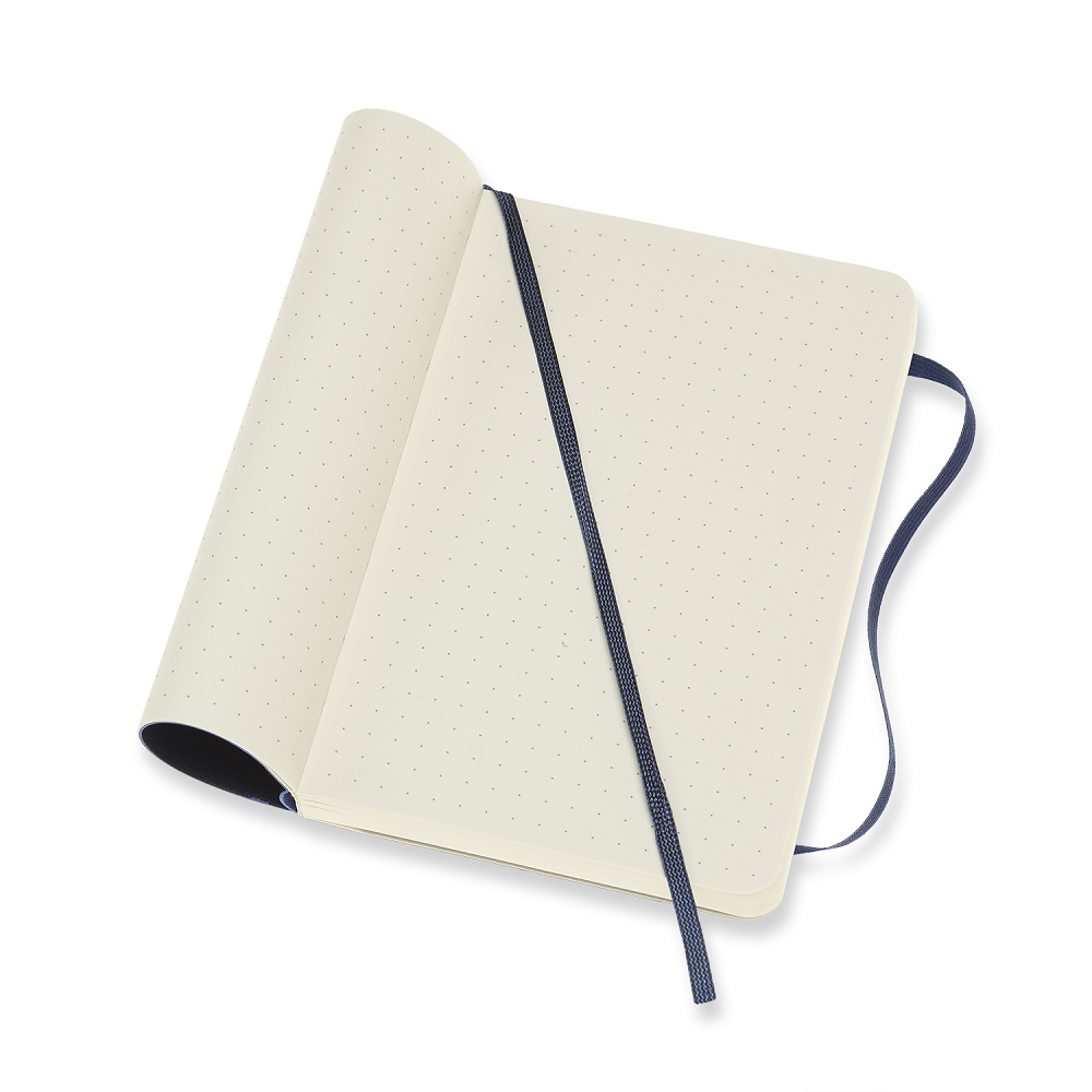 MOLESKINE|經典寶藍色軟皮筆記本-口袋點線