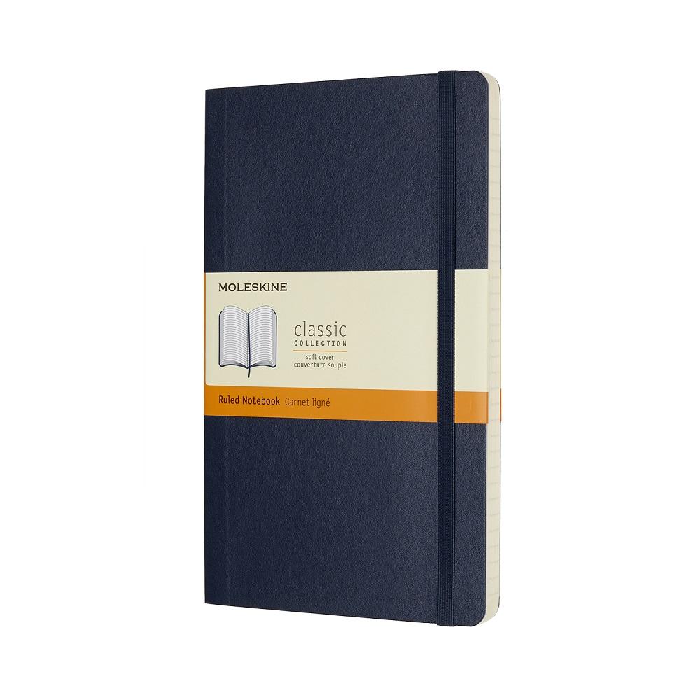 MOLESKINE 經典寶藍色軟皮筆記本-L橫線