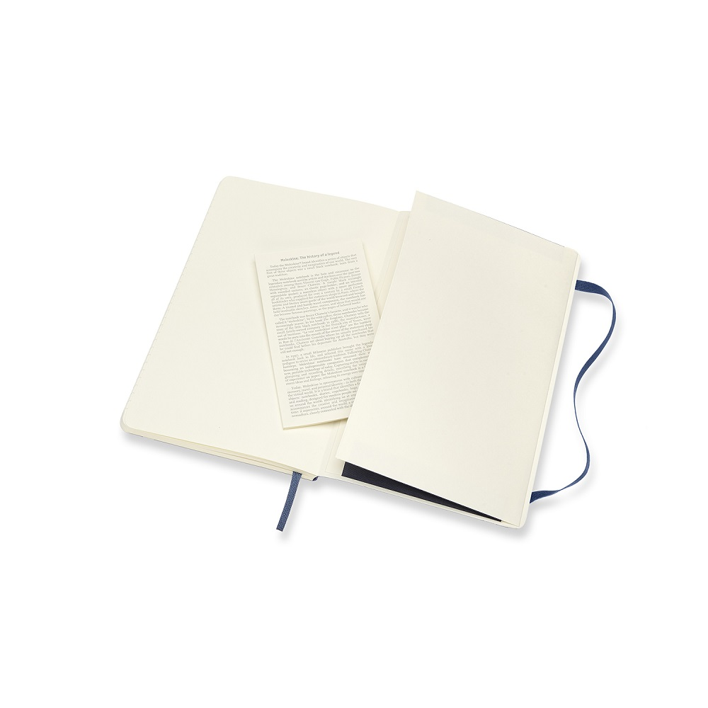 MOLESKINE|經典寶藍色軟皮筆記本-L橫線