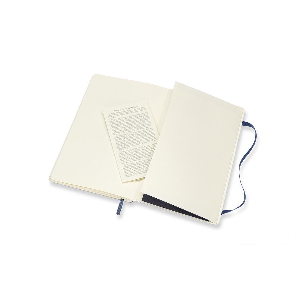 MOLESKINE|經典寶藍色軟皮筆記本-L空白