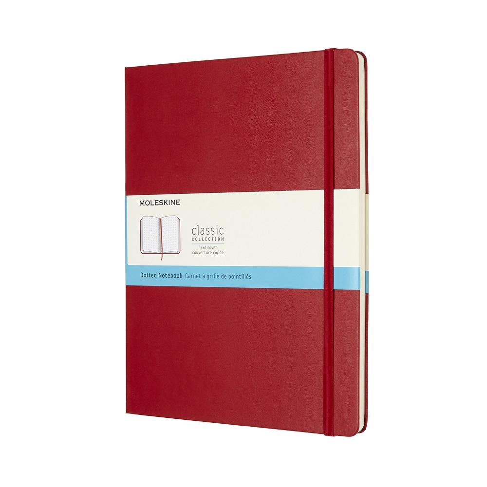 MOLESKINE|經典紅色硬殼筆記本-XL點線