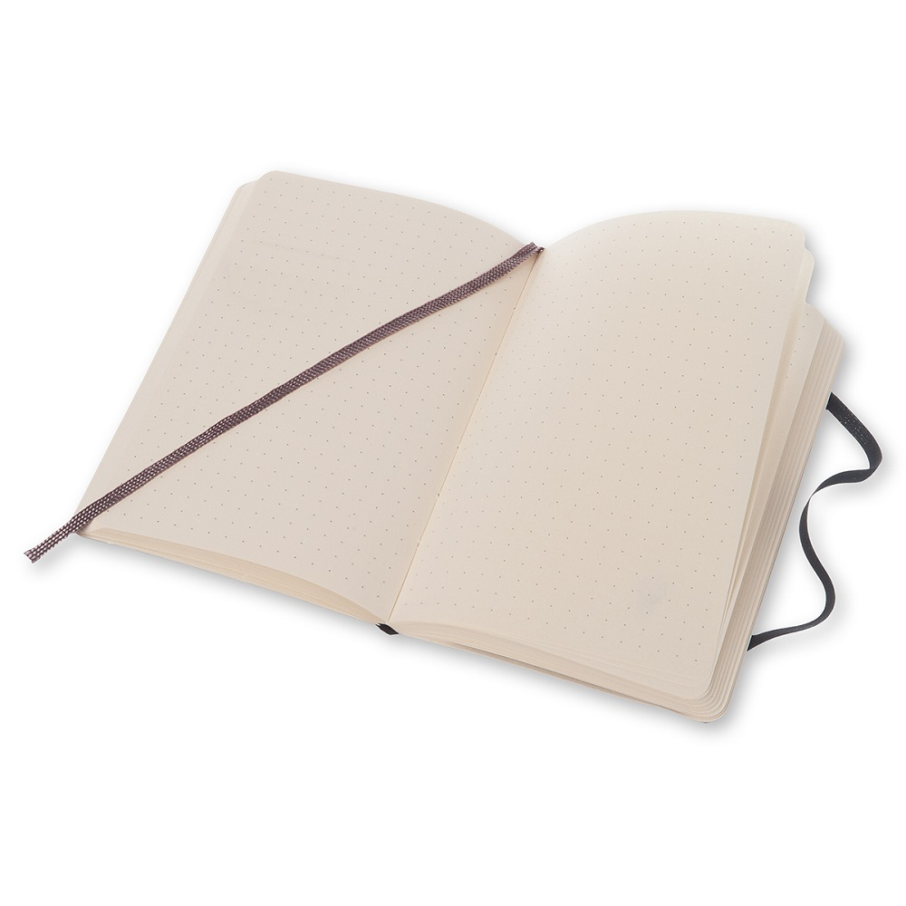 MOLESKINE 經典黑色軟皮筆記本-口袋點線