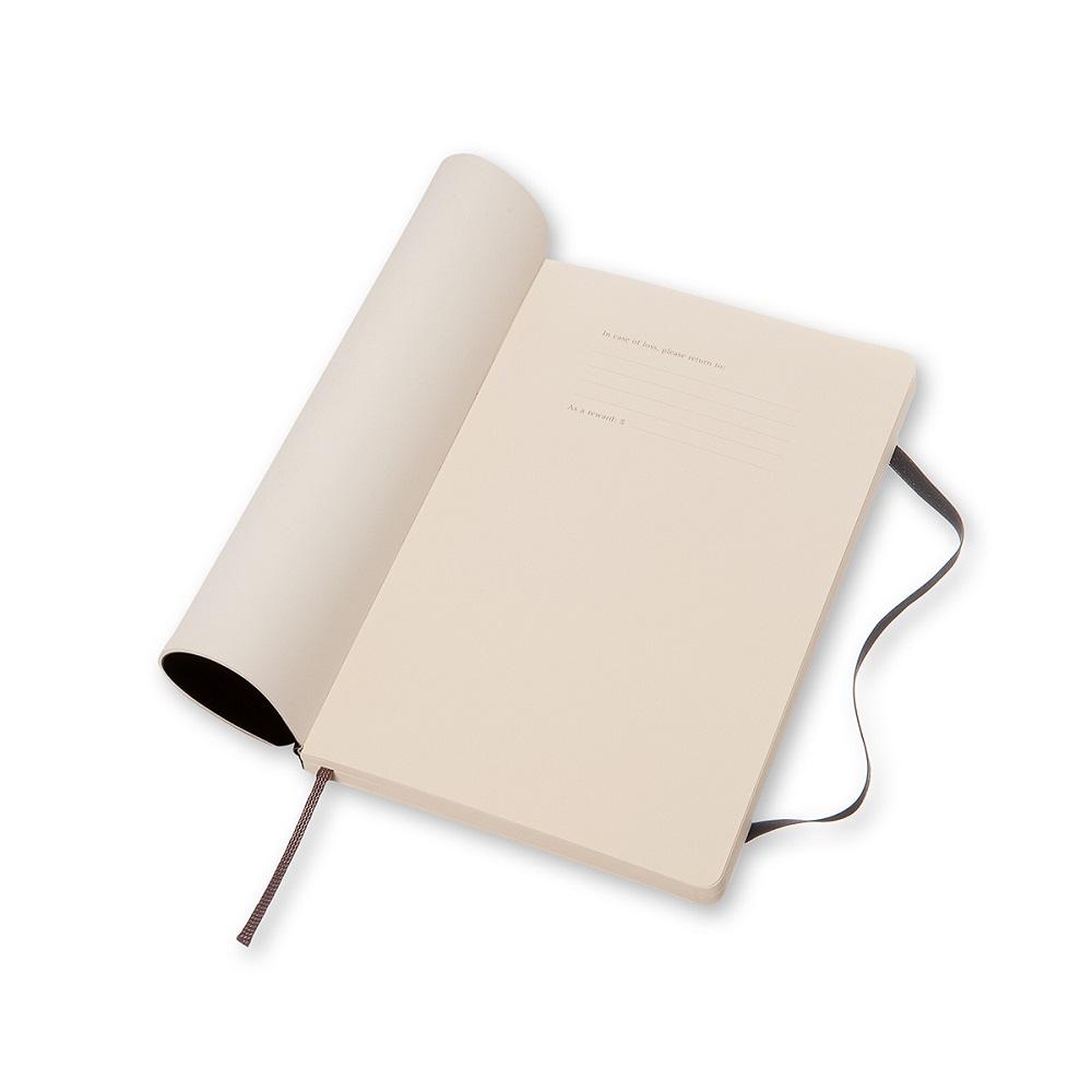 MOLESKINE|經典黑色軟皮筆記本-L型點線