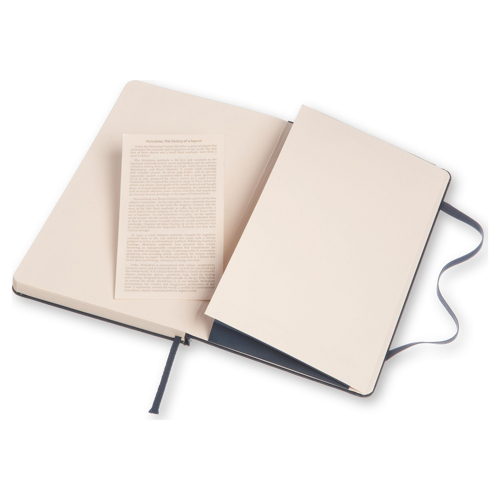 MOLESKINE 經典寶藍色硬殼筆記本-L空白