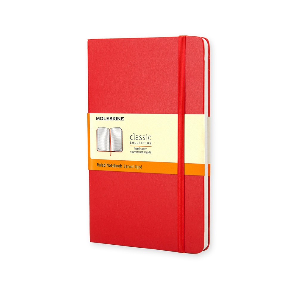 MOLESKINE 經典紅色硬殼筆記本-口袋橫線
