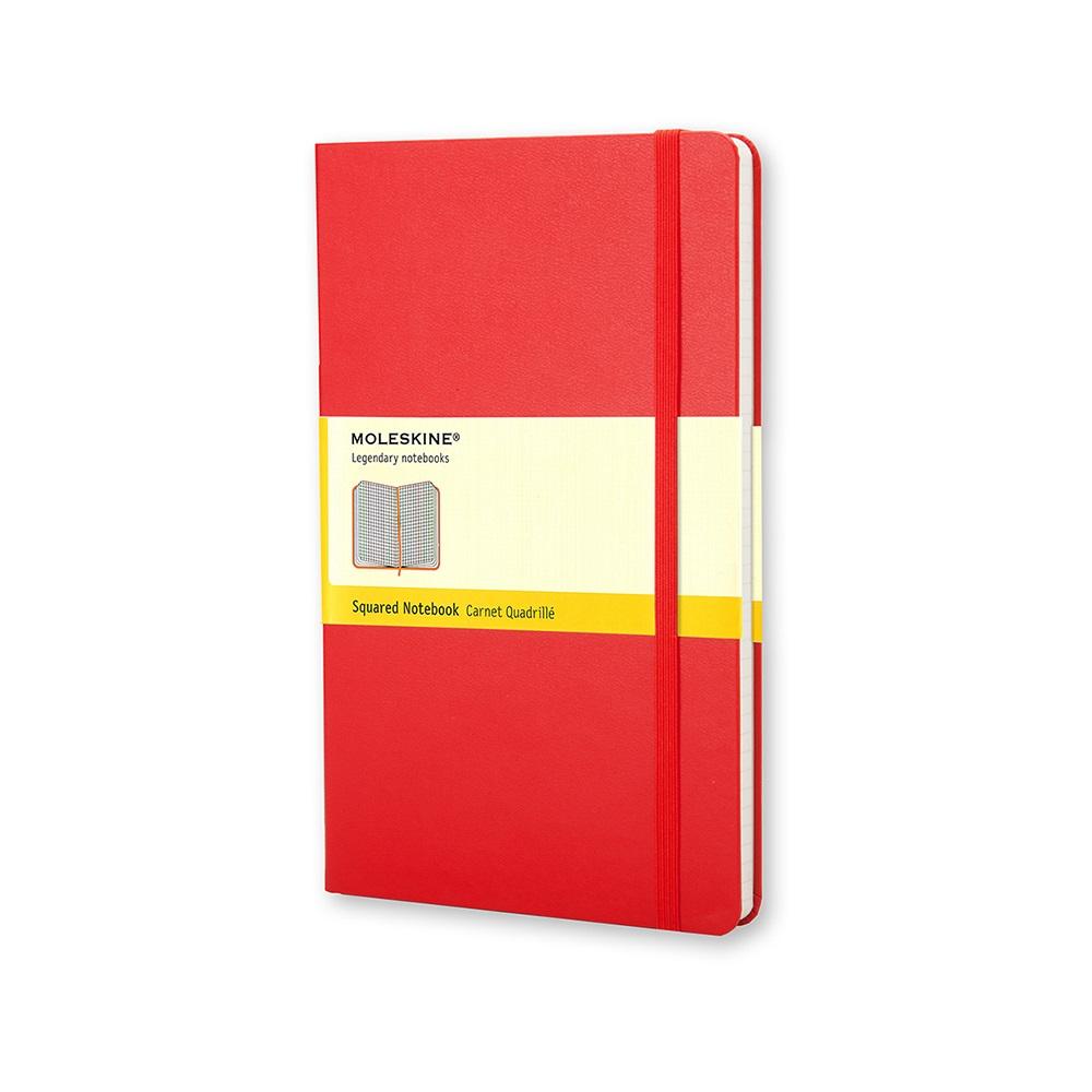 MOLESKINE 經典紅色硬殼筆記本-口袋方格