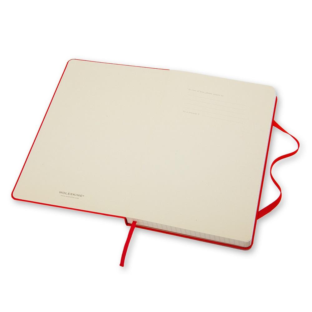 MOLESKINE|經典紅色硬殼筆記本-口袋方格