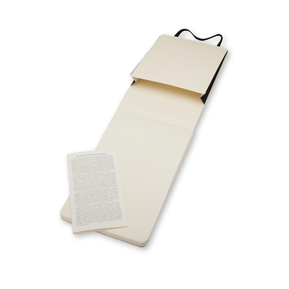 MOLESKINE|記者黑色軟皮筆記本-口袋空白