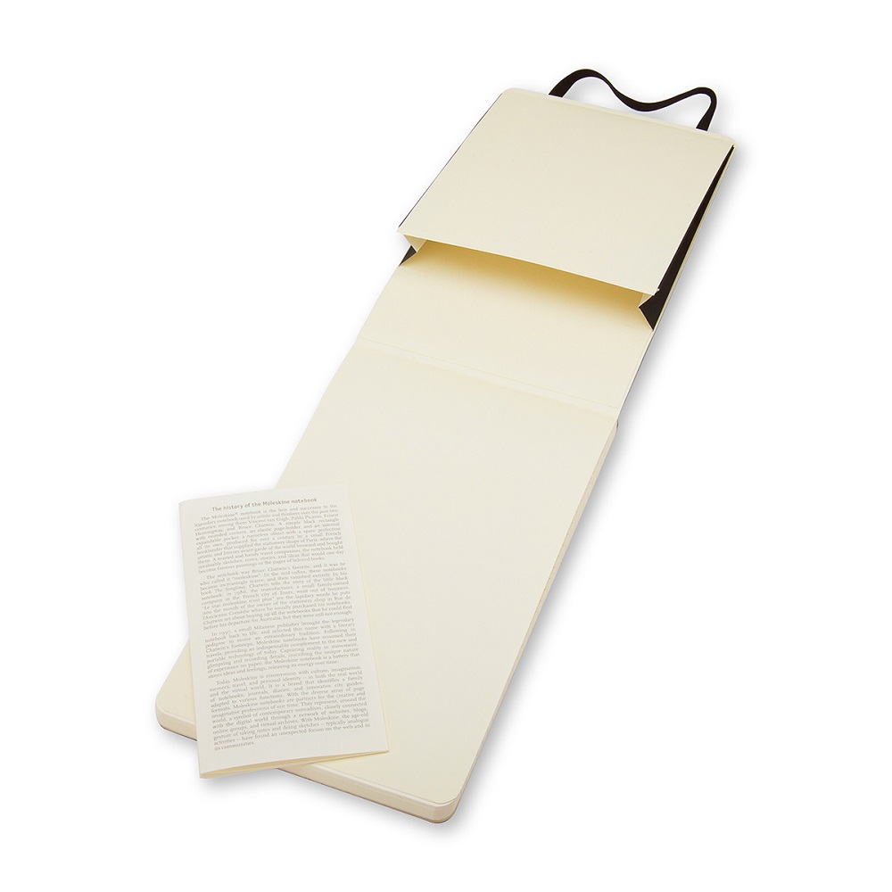 MOLESKINE|記者黑色軟皮筆記本-口袋橫線
