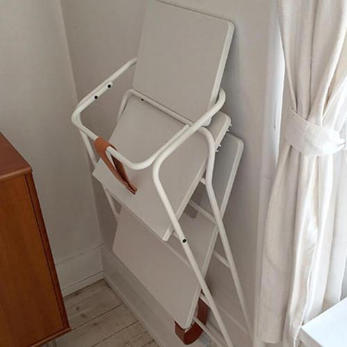 BudtzBendix TOWER chair 嬰兒高腳椅(白/褐)