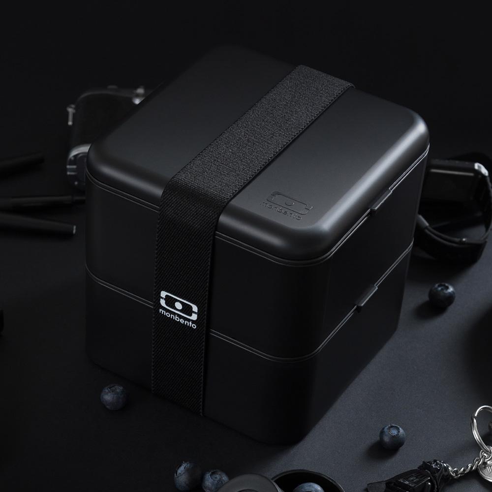 MONBENTO|原創方型便當盒 (黑色)