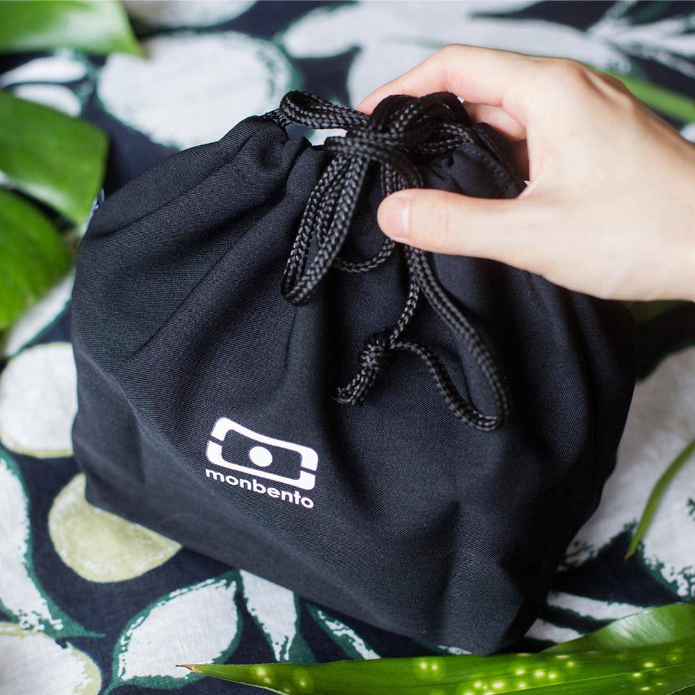 MONBENTO|餐布袋 (黑白色)