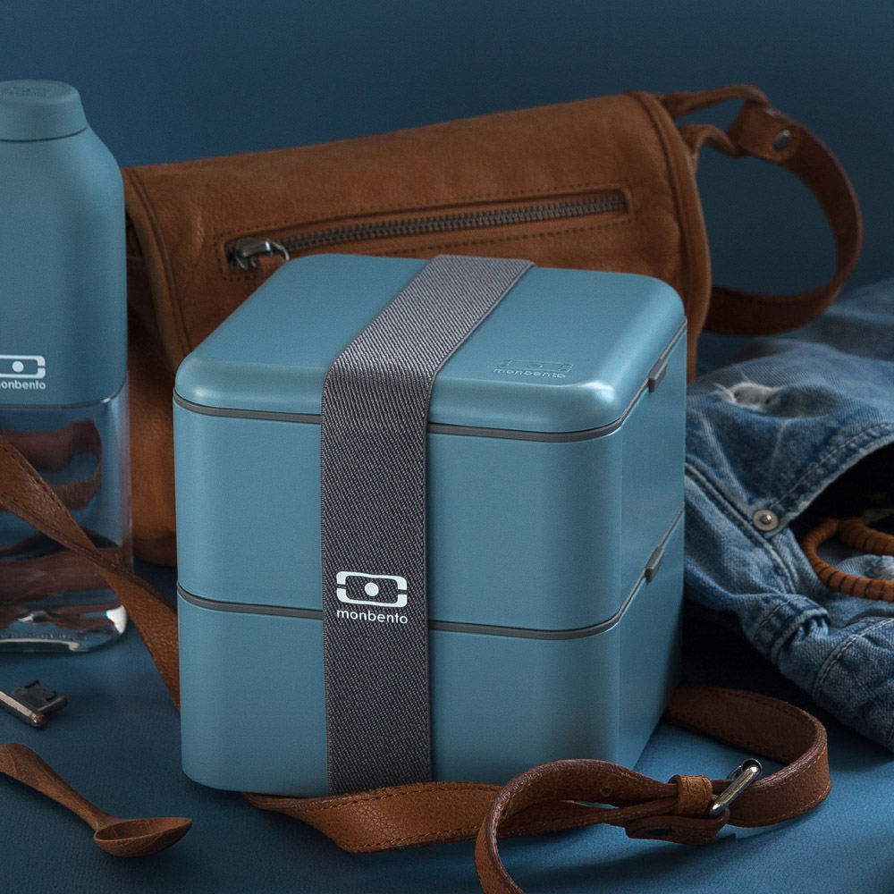 MONBENTO|原創方型便當盒 (牛仔藍)