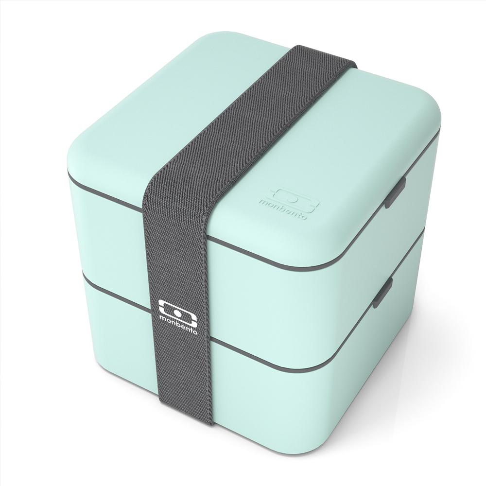 MONBENTO|原創方型便當盒(抹茶色)